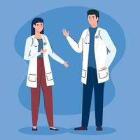 Doctors with stethoscope avatar character