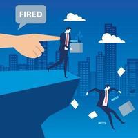 escena de un empresario despedido vector