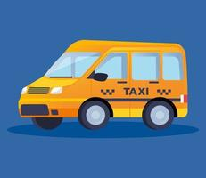 taxi van transportation vehicle vector