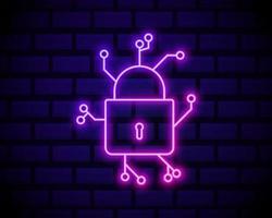 Cyber Safe padlock vector