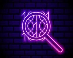 Binary code Neon vector