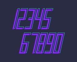 conjunto de números deportivos vector