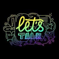 let's talk illustration vector