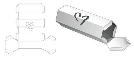 caja de embalaje plantilla troquelada vector