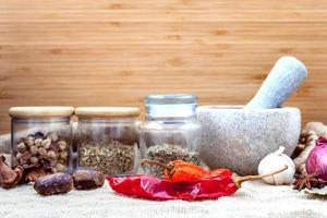 Spices and mortar photo