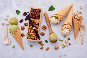Nuts and ice cream