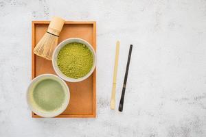 Matcha tea set photo
