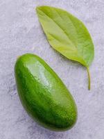 Avocado with leaf