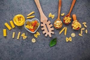 Pasta and utensils