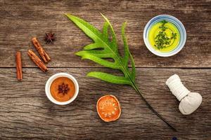 Natural homemade spa ingredients