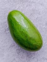 Avocado on gray
