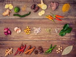 Various Thai ingredients