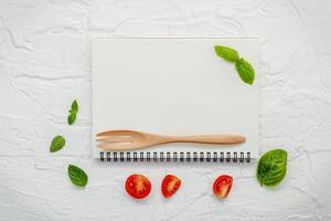 Food menu mock-up photo