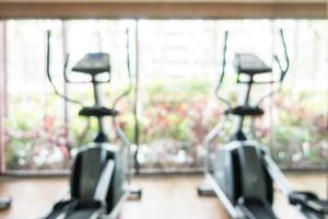 Abstract defocused fitness and gym room interior