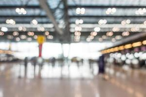 Abstract defocused airport interior