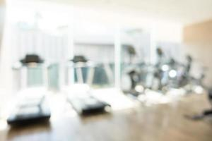 Abstract defocused gym and fitness room
