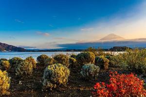 Landscape around Mt. Fuji in Japan in autumn