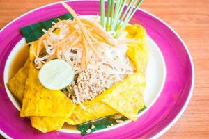 Pad Thai noodles on a plate
