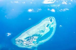 Aerial view of the Maldive islands