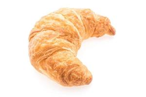 French butter croissant on white background