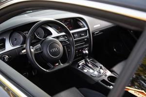 Interior of Audi car