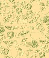 Fresh veggies pattern background vector