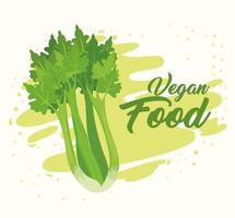 concepto de comida vegana con apio fresco vector