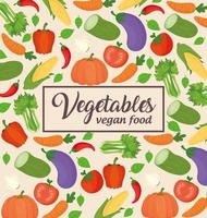 Vegetables banner, concept of healthy and vegan food vector