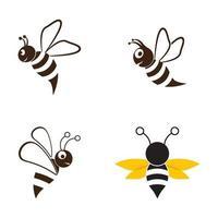 Bee logo images set vector