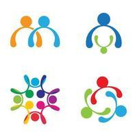 Community care logo images design set vector