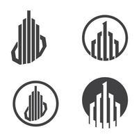 Real estate logo images set vector