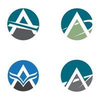 conjunto de imágenes de logotipo letra a vector