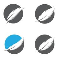 conjunto de imágenes de logotipo de pluma vector