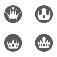 Crown logo template vector icon set
