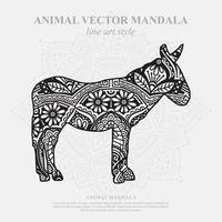 mandala de burro. elementos decorativos vintage. patrón oriental, ilustración vectorial. vector