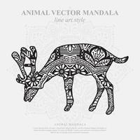 Reindeer Mandala. Vintage decorative elements. Oriental pattern, vector illustration.