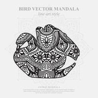 Bird Mandala. Vintage decorative elements. Oriental pattern, vector illustration.