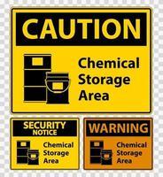 Signo de símbolo de almacenamiento químico aislado sobre fondo transparente, ilustración vectorial