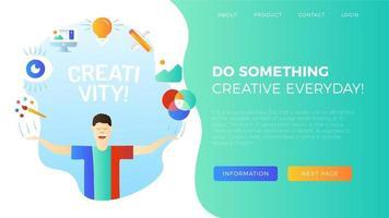 Ilustración de creatividad con carácter. vector
