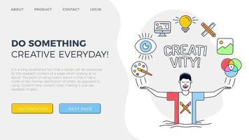 página de inicio de creatividad vector
