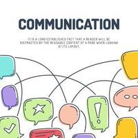 communication chat bubble background vector