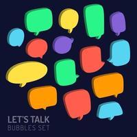 3d speech chat bubble set vector