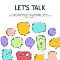lets tap chat bubble card vector