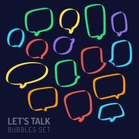 speech chat bubble set vector
