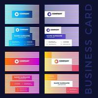 colorful business card set vector