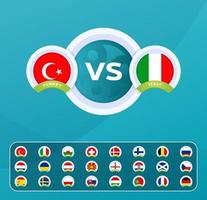 versus football team template vector