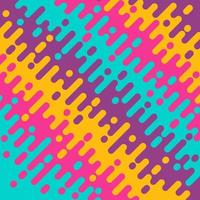 Abstract yellow pink green and violet diagonal rounded lines halftone transition. Trendy color geometric abstract design. Simple flat colorful pattern style. Vector Illustration