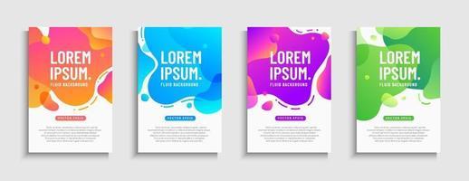 Abstract dynamic modern fluid mobile sale banner set. Sale banner trendy gradient template design, Super sale special offer collection. Vector illustration