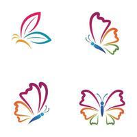 Beauty butterfly logo images vector