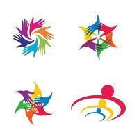 Teamwork logo images vector